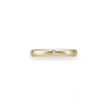 (Lifetime Guarantee) 18k Yellow Gold Diamond Wedding Band Ring, 0.02 ctw (G-H/S-I) 3mm: Size 4