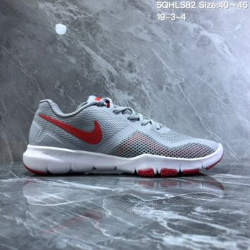 HCCCXX N820 NIKE FLEX CONTROL II Mesh breathable running shoes Gray Red