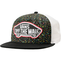 Vans Girls Black Overspray Splatter Trucker Hat