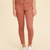 Girls Hollister High-Rise Super Skinny Crop Pants | Girls Bottoms | HollisterCo.com