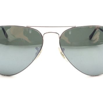 Cheap Ray Ban Aviator Large Metal Green/Silver Unisex Sunglasses outlet