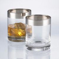 On-the-Rocks Whiskey Glasses - Set of 2