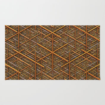 It's Gold Area & Throw Rug by Lyle Hatch