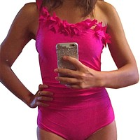 Layered One Shoulder Sexy One Piece SwimSuits