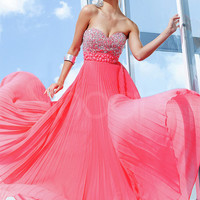 Stylish A-line Sweetheart Empire Waist Floor Length Prom Dress from SinoAnt