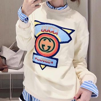GUCCI Autumn Winter Newest Popular Women Casual Long Sleeve Sweater Pullover Top