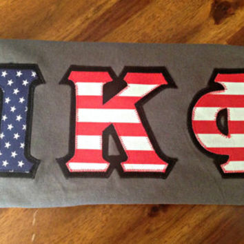 American Flag Greek Letter Shirt