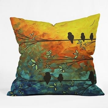 Madart Inc. Birds Of A Feather Throw Pillow
