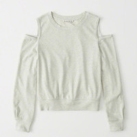 Womens Cold-Shoulder Sweatshirt | Womens New Arrivals | Abercrombie.com