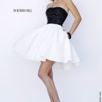 Sherri Hill 32154 Short Black & White Prom Dress