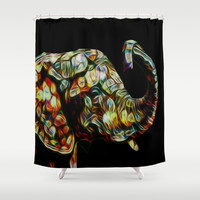 Elephant dream Shower Curtain by Laureenr