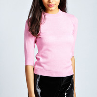 Bree Short Sleeve Fitted Jumper