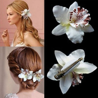 2015 christmas gift hot sale Bohemia Orchid Peony Flowers Hair Clips Hairpin Corsage hair accessories Fashion Tiara