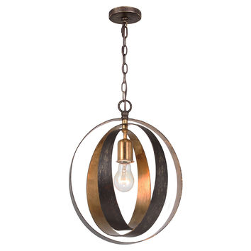 Luna 1-Light Sphere Chandelier, Small, Ceiling Chandeliers