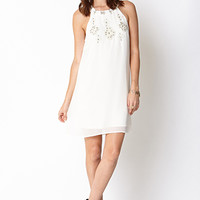 Dazzling Studs Swing Dress
