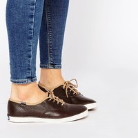 Keds Brown Leather Plimsolls