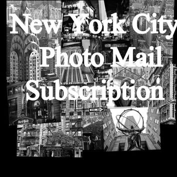 NYC PHOTO MAIL:  Monthly Photography Mail Subscription - New York City Photos - Personal Snail Mail - nyc photography - Gift for Travelers