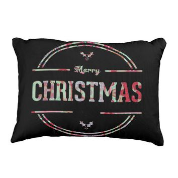 Merry Christmas Greeting Pillow