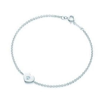 Tiffany & Co. -  Paloma Picasso® Modern Heart bracelet in sterling silver with a diamond, medium.