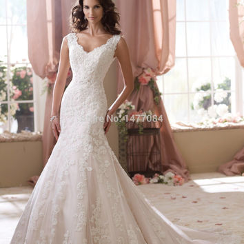 New Fashion Cap Sleeves See Through Corset Wedding Dresses 2015 Covered Back Lace Bridal Gowns