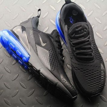 Nike Air Max 270 Black Photo Blue AH8050-009 Sport Running Shoes - Best Online Sale