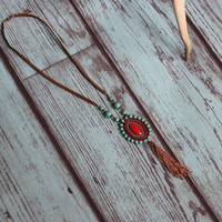 Tanglewood Reds Necklace