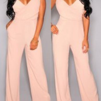 Apricot Sleeveless Jumpsuit
