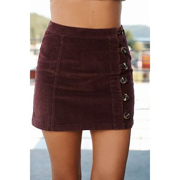 Meeting My Love Skirt (Wine)