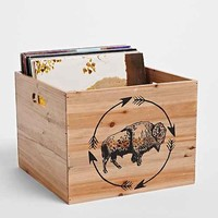 4040 Locust Bison Wood Storage Crate - Brown One
