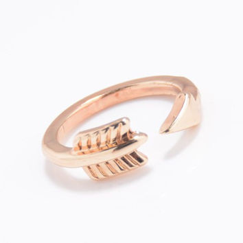 Arrow Solid Color Cuff Ring