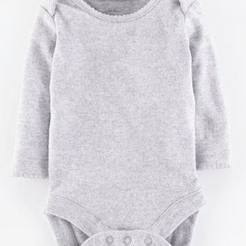 Infant Girl's Mini Boden Pointelle Knit Bodysuit,