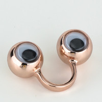 Rose Gold Googly Eyes Ring