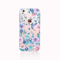 iPhone 6s Case Clear iPhone 6s Case Floral iPhone 6s Case Vintage Floral iPhone 6S Plus Case Clear Samsung Galaxy S6 Case Floral Hummingbird