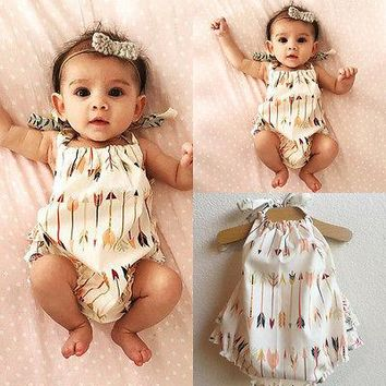2016 Cute Children Kids Baby Girl Clothes Bodysuit Summer Sleeveless Bebes Body Clothing Outfit 0-18M