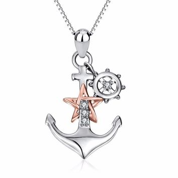 Women's Anchor Sterling Silver Necklace