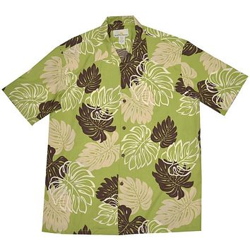 surfers green hawaiian rayon shirt