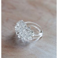 Clear Cluster Ring | BRIKA - A Well-Crafted Life