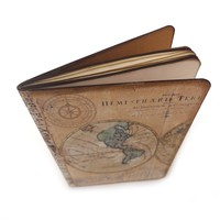 Map Travel Journal - Old World Map - Vacation Log