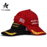 Hot sell Make America Great Again Hat  Unisex Bone Snapback Hats Donald Trump Baseball Cap Men`s Cotton Adjustable Caps AR048
