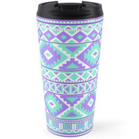 Tribal pattern purple and mint