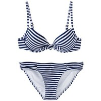 Xhilaration® Junior's Stripe 2-Piece Bikini Swimsuit