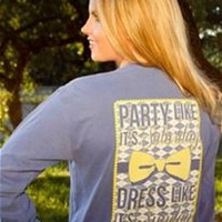 Jadelynn Brooke Party Like Its Saturday Long Sleeve Tee