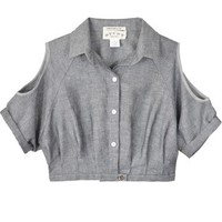 Study Cropped Amelia Chambray Blouse