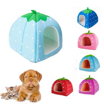 Pet Dog Bed For House Kennel Doggy Warm Cushion Basket 5 Color S/M/L