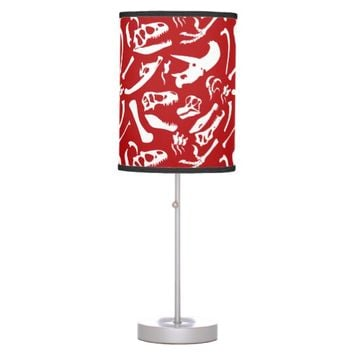 Dinosaur Bones (Red) Desk Lamp