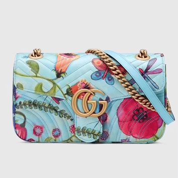 2018 Spring New Gucci Counters Unskilled Worker Paintings Women Leather Shoulder Bag Crossbody Satchel handbag