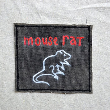 Mouse Rat or Scarecrow Boat handmade band patches Parks & Recreation