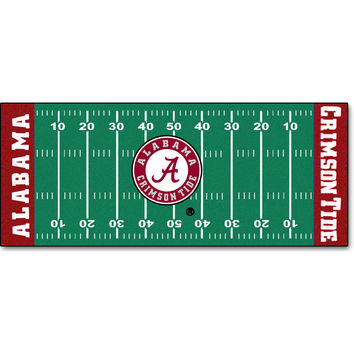 NCAA Alabama Crimson Tide Football Runner Rug