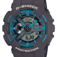 Casio G-Shock Matte Gray & Blue Analog Digital Anti-Magnetic - 200m - WorldTime