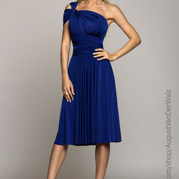 Blue midi Dress, Evening gowns, short dresses, small dress, Evening dress, Bridesmaids Dress, Formal Dress, summer dress, convertible dress